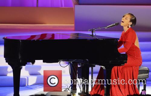 Alicia Keys at the Inaugural Ball