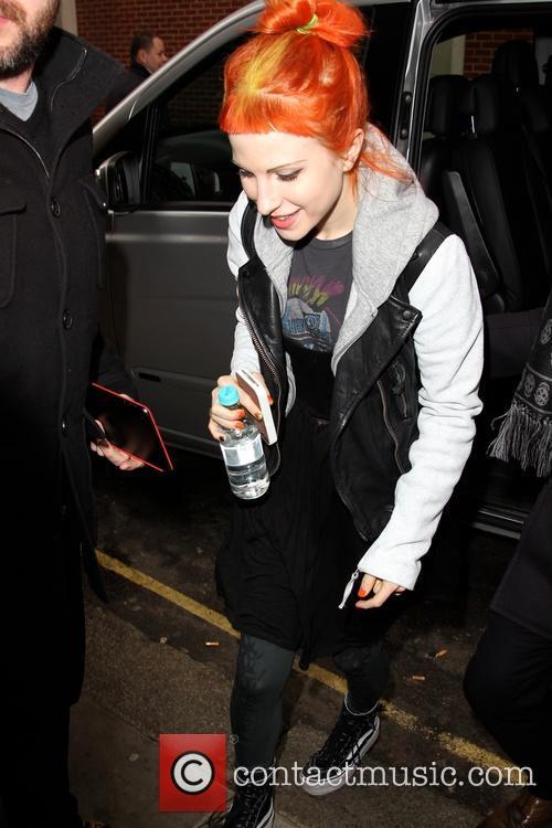 Paramore arrievs at the Kiss FM studios