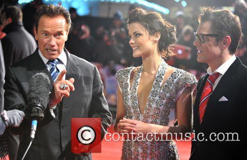 Arnold Schwarzenegger, Jaimie Alexander and Johnny Knoxville 1