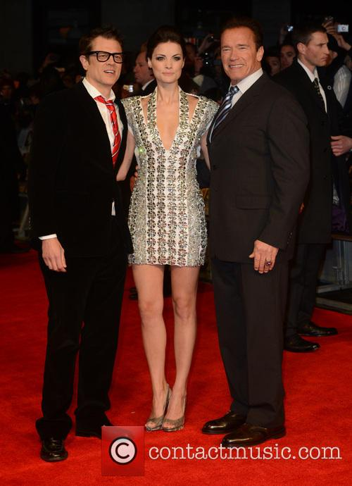 Johnny Knoxville, Arnold Schwarzenegger and Jaimie Alexander 8