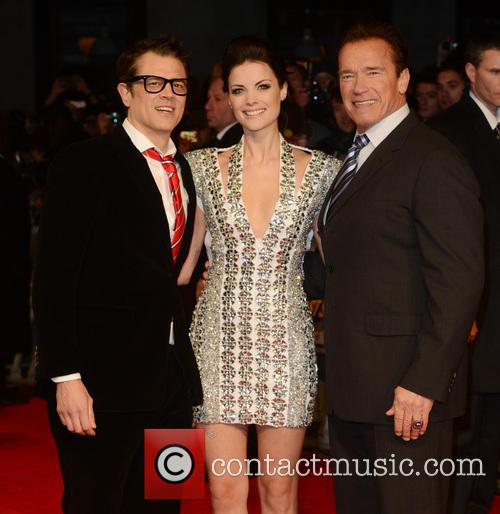 Johnny Knoxville, Arnold Schwarzenegger and Jaimie Alexander 11