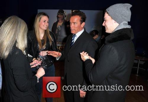 Emily Charlesworth, Arnold Schwarzenegger and Patrick Schwarzenegger 2