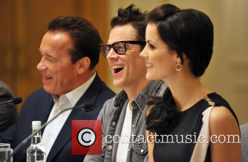 Arnold Schwarzenegger, Jaimie Alexander and Johnny Knoxville 6