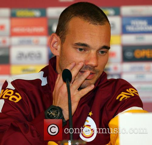Wesley Sneijder at Press Conference