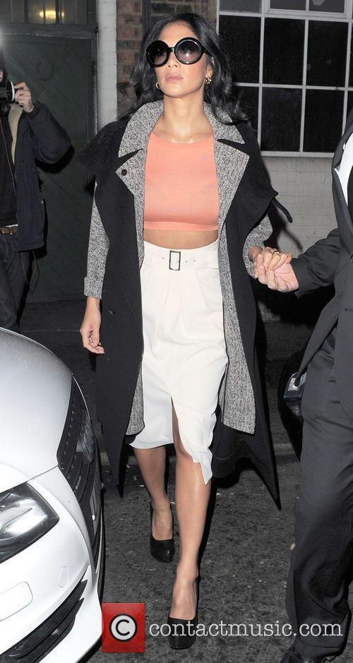 Nicole Scherzinger is seen leaving a photo studio