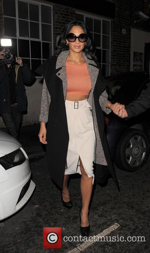 Nicole Scherzinger leaving a photo studio