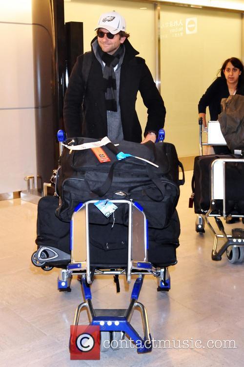 Bradley Cooper arrives at Narita International Airpor