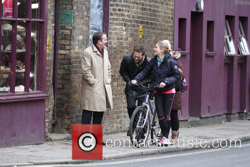 Celebrities on the set of 'Law & Order: UK'