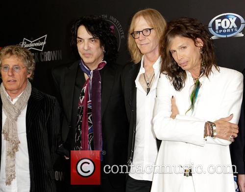 Roger Daltrey, Paul Stanley, Tom Hamilton and Steven Tyler 4
