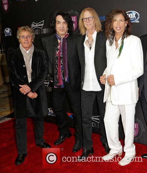 Roger Daltrey, Paul Stanley, Tom Hamilton and Steven Tyler 8