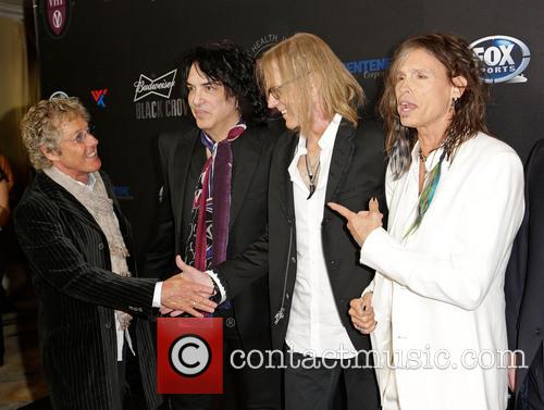 Roger Daltrey, Paul Stanley, Tom Hamilton and Steven Tyler 10