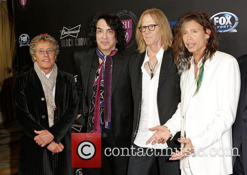 Roger Daltrey, Paul Stanley, Tom Hamilton and Steven Tyler 11