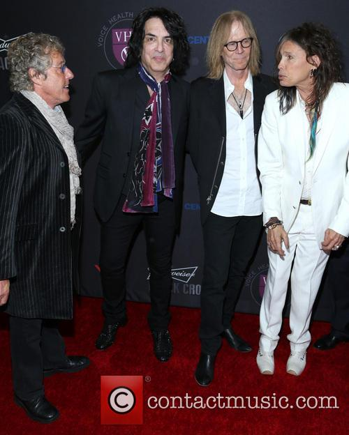 Roger Daltrey, Paul Stanley, Tom Hamilton and Steven Tyler 3