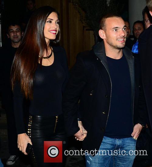 Yolanthe Sneijder-cabau and Wesley Sneijder 3