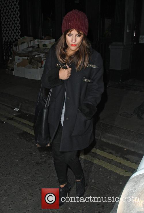 Caroline Flack Leaving The Groucho