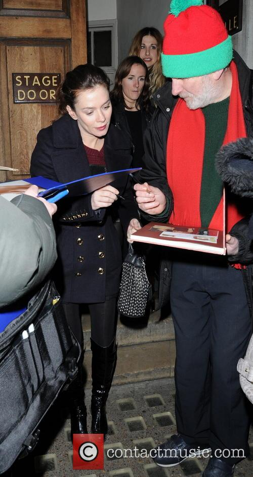 Celebrities leaving the Vaudeville Theatre