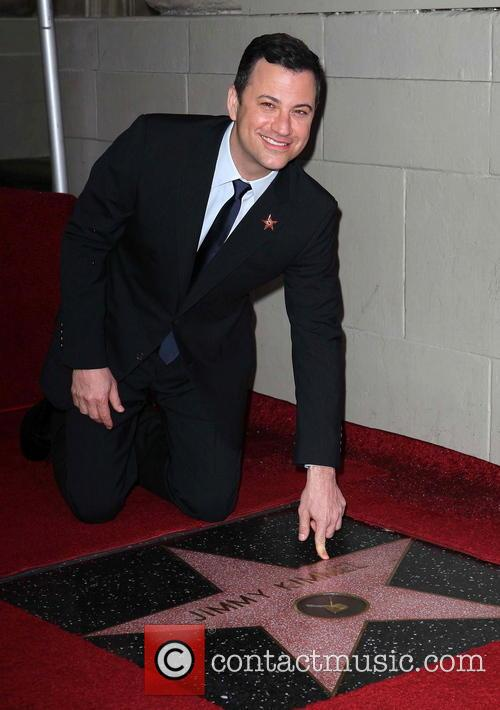 Jimmy Kimmel is honoured with a Hollywood Star