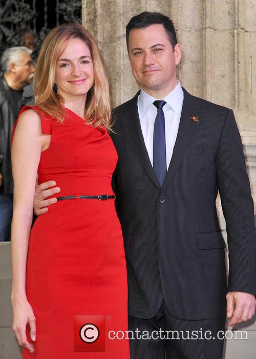 Jimmy Kimmel And Molly McNearny At The Ceremony, Honoring Kimmel