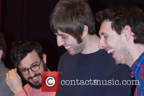 Simon Bird, James Buckley and Blake Harrison
