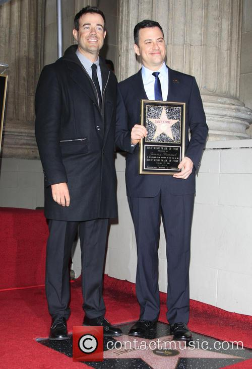 Carson Daly and Jimmy Kimmel at the Ceremony