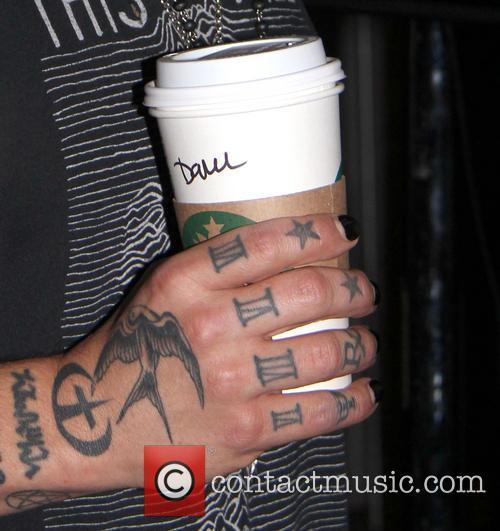 Dave Navarro's Name On A Starbucks Cup 2