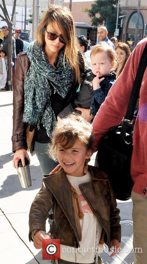 Jessica Alba With Family