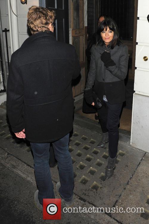 Celebrities leaving Little House restaurant