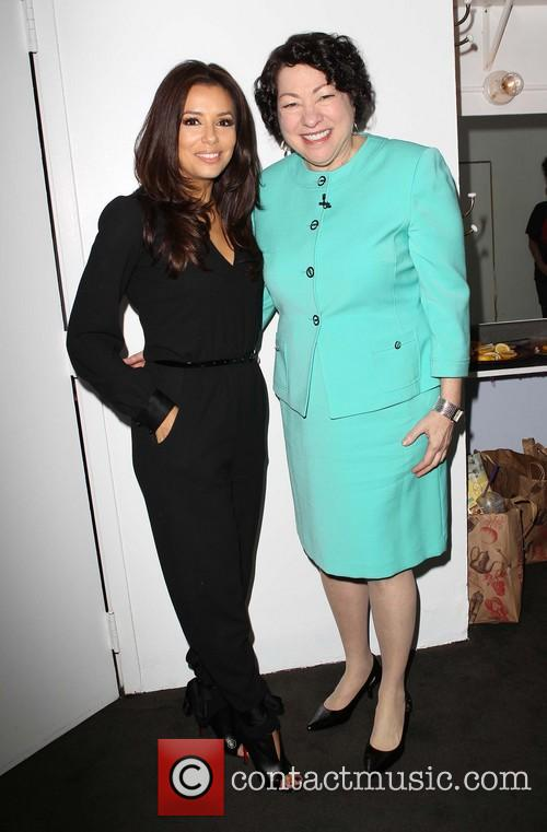 Eva Longoria and Us Supreme Court Justice Sonia Sotomayor 2