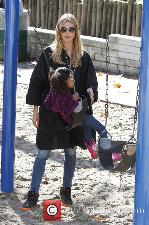Heidi Klum and Daughter Lou 7