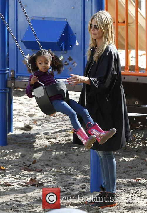 Heidi Klum and Daughter Lou 10