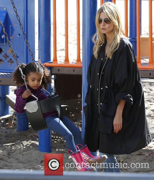 Heidi Klum and daughter Lou 7