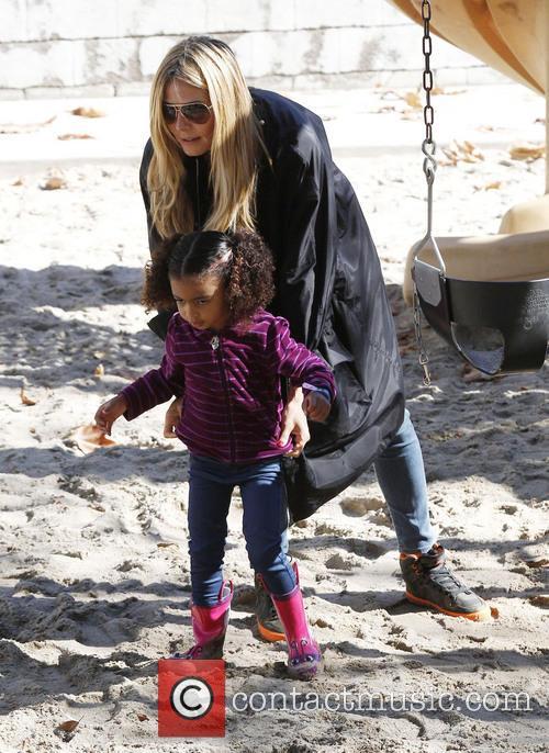 Heidi Klum and daughter Lou 1