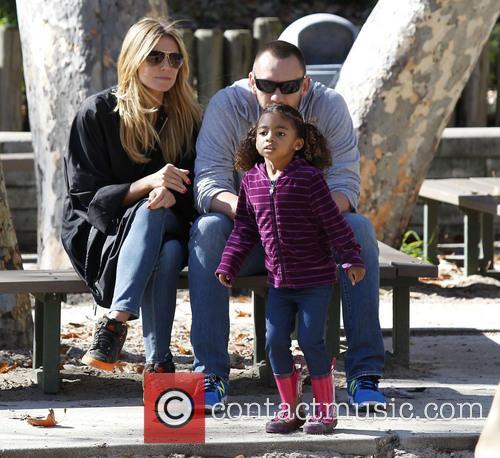 Heidi Klum, daughter Lou, Martin Kristen