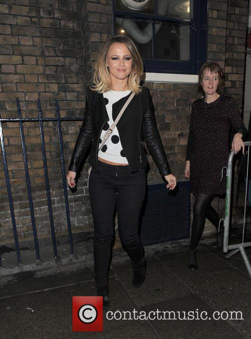 Kimberley Walsh is seen leaving the Theatre Royal