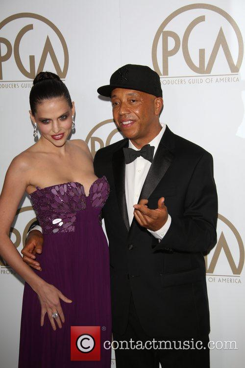 Russell Simmons and German Model Hana Nitsche 1