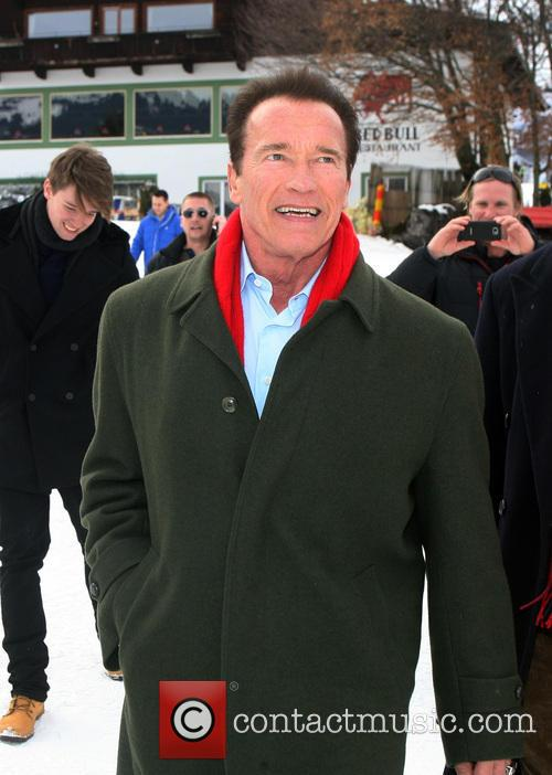 Arnold Schwarzenegger, VIP Spectators Grand Stand Tyrol Austria