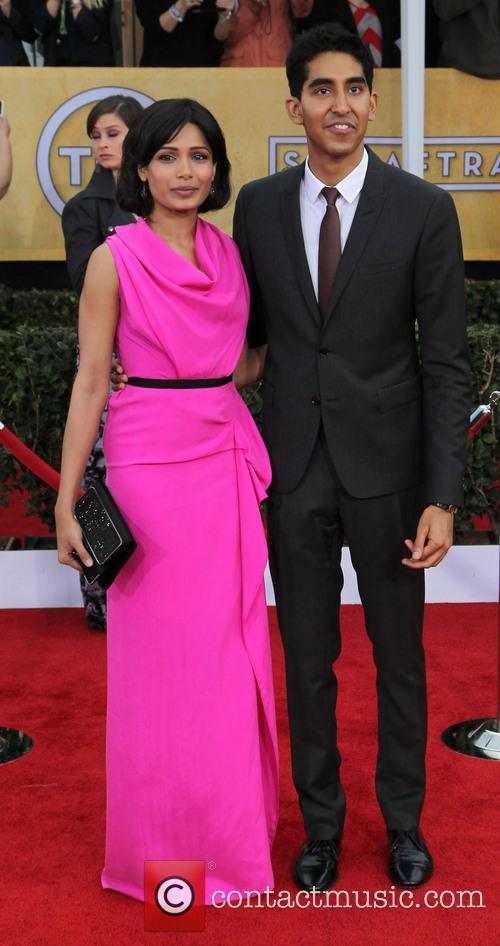 Freida Pinto and Dev Patel 2