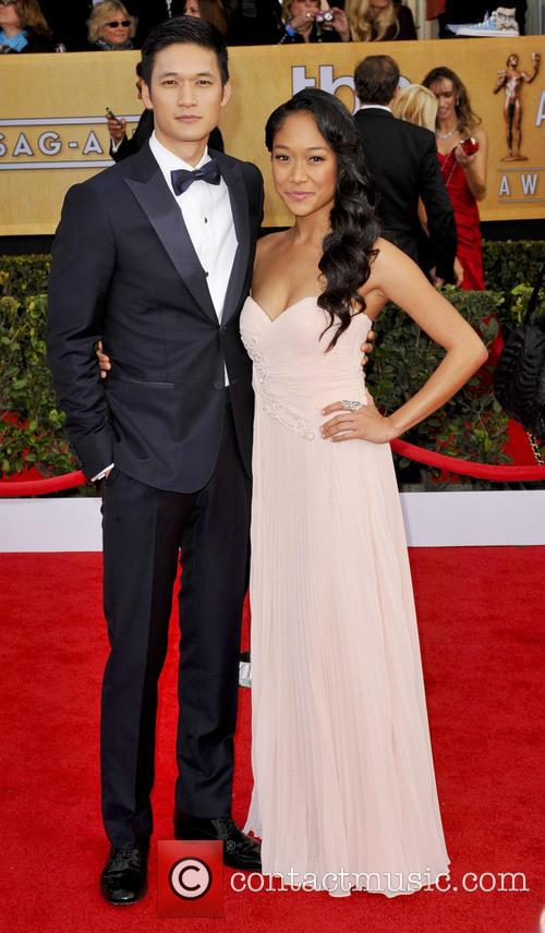 Picture - Harry Shum Jr  and Shelby Rabara at Screen Actors Guild Los    Harry Shum Jr And Shelby Rabara