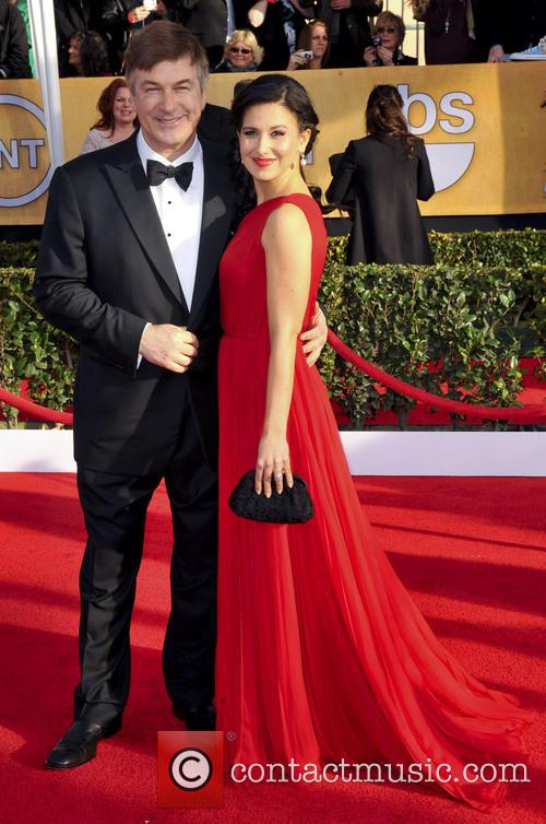 Alec and Hilaria Baldwin at the SAG Awards