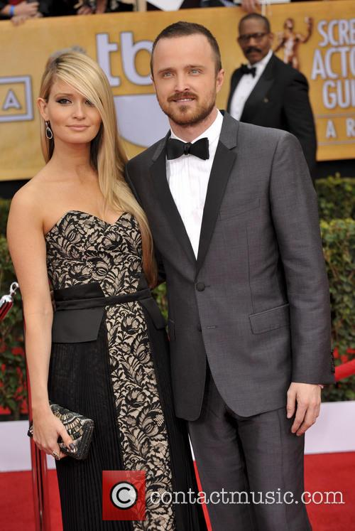 Lauren Parsekian and Aaron Paul 1