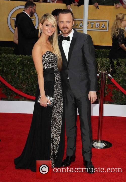 Aaron Paul and Lauren Parsekian 1
