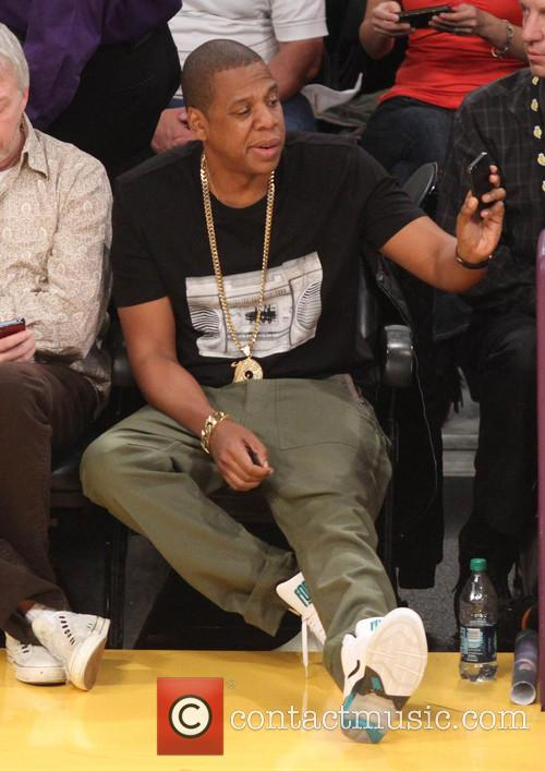 Jay Z at the Lakers game