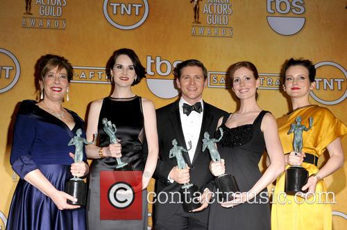 Michelle Dockery, Allen Leech, Phyllis Logan, Amy Nuttall, Sophie McShera, Downton Abbey, Screen Actors Guild