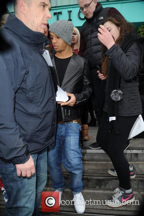 Aston Merrygold leaves his hotel