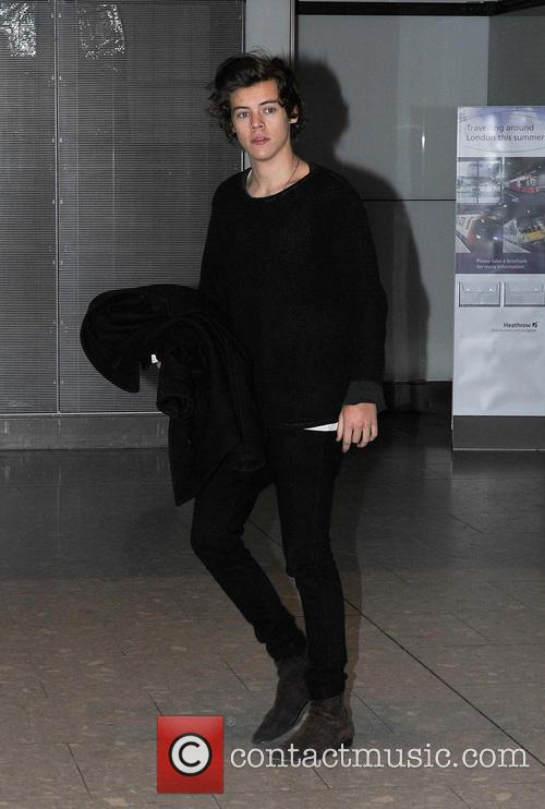 Harry Styles arrives at Heathrow airport 280113