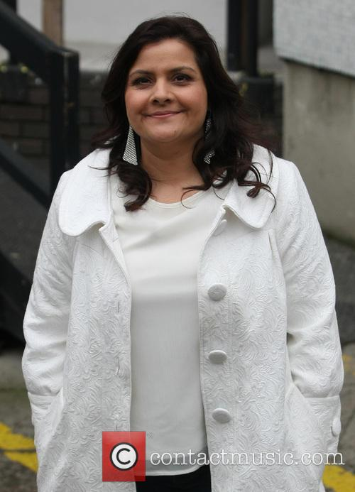 nina wadia celebrities at the itv studios 3473054