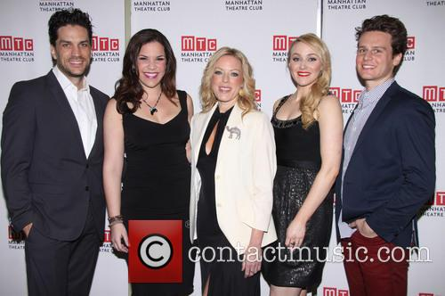 Jonathan Groff, Lindsay Mendez, Sherie Rene Scott, Betsy Wolfe and Will Swenson 3