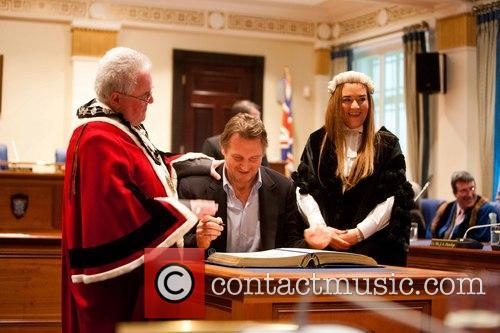 Liam Neeson, Mayor Alderman and P.j Mcavoy 4