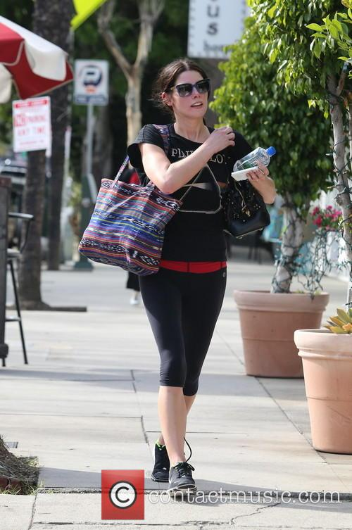 Ashley Greene is seen after a gym workout...