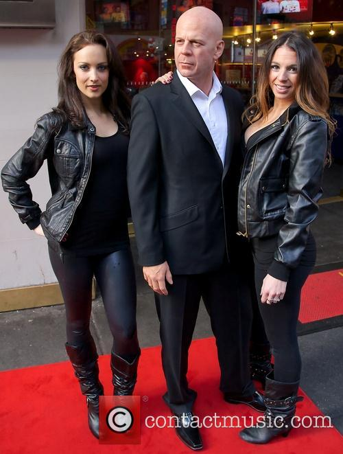 Bruce Willis and Models 6